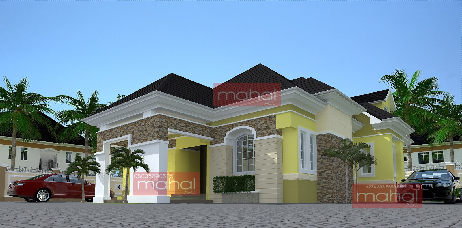 Parapet designs on bungalows in nigeria for Modern house designs in nigeria