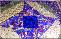 Free Motion Feather Block Machine Quilting by Sally Terry Professional Machine Quilter and Educator