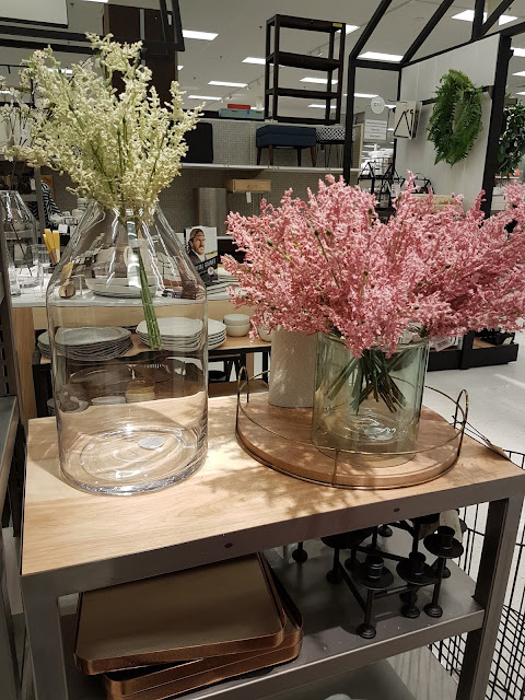 home decor accessories, vases with floral stems
