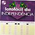 Lotofácil da Independência 2018 prêmio R$ 85 milhões