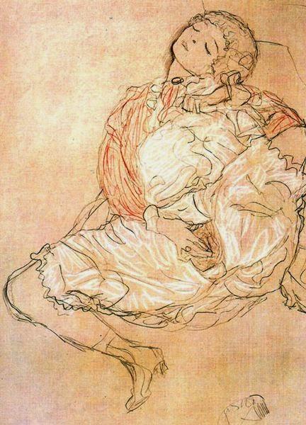 Masturbação - Gustav Klimt e suas pinturas ~ Pintor simbolista austríaco
