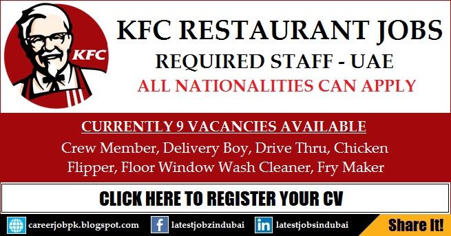 KFC Dubai Careers and Job Vacancies Apply Online