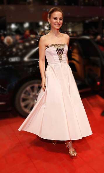 Natalie Portman com vestido da Dior