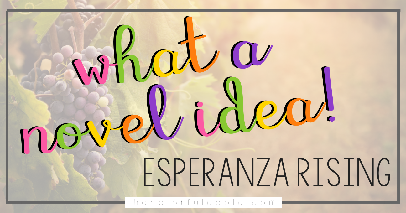 Ten different engaging, fun activities and projects for students to engage them in Pam Munoz Ryan's novel, Esperanza Rising.