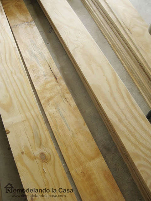 rough plywood used as flooring material