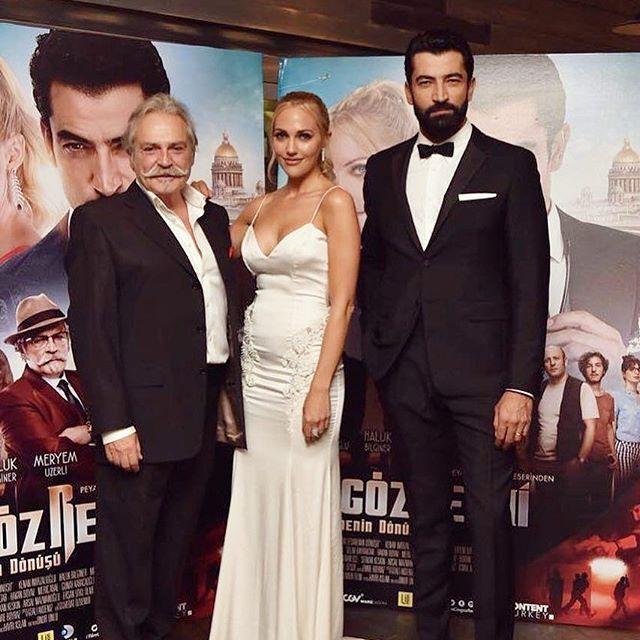 Gala filmului Cingöz Recai Meryem Uzerli, Kenan İmirzalıoğlu și Haluk Bilginer