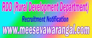 RDD (Rural Development Department) Recruitment Notification