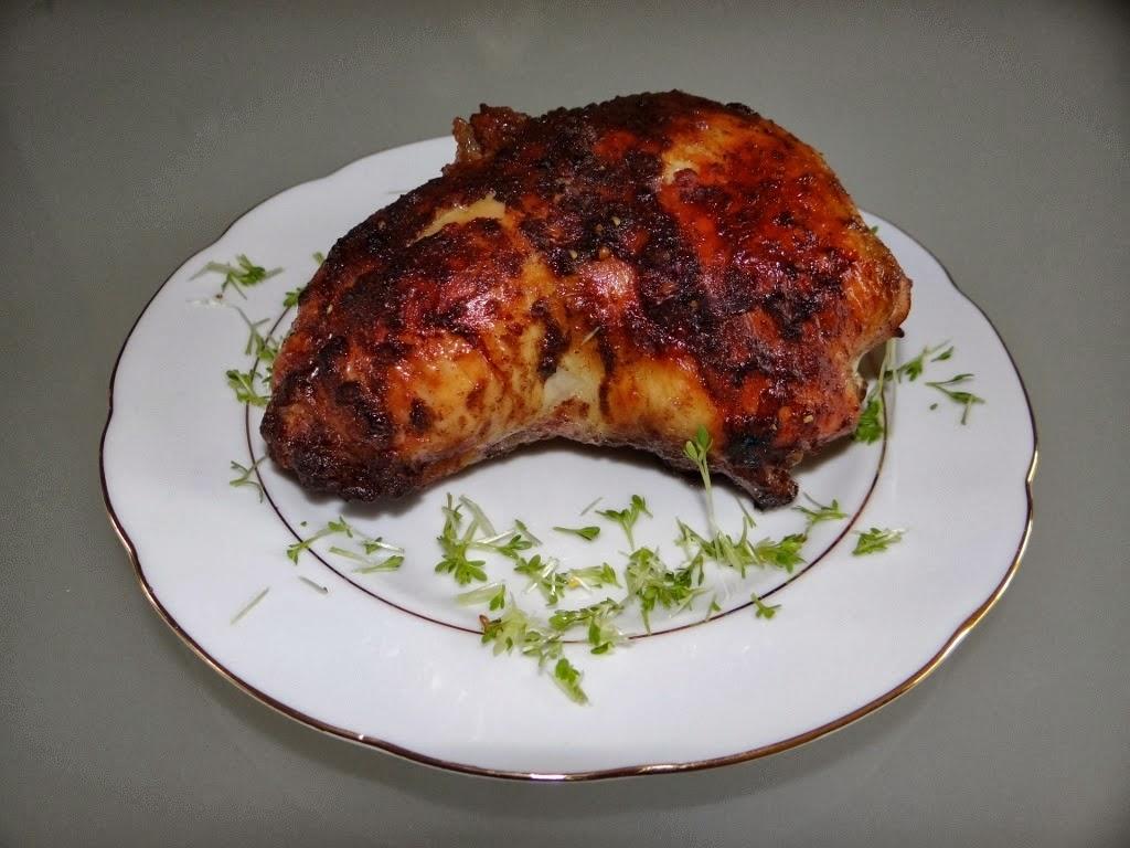 Pieczone udka kurczaka z farszem owocowym