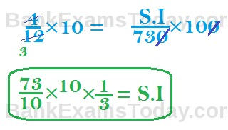 Simple Interest Basic Formulas