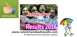 TS Inter 1st Year Result 2016 Online at manabadi.com, Telangana Intermediate Results Today 22 April 2016, TS Inter 2nd Year Result 2016 with Photo