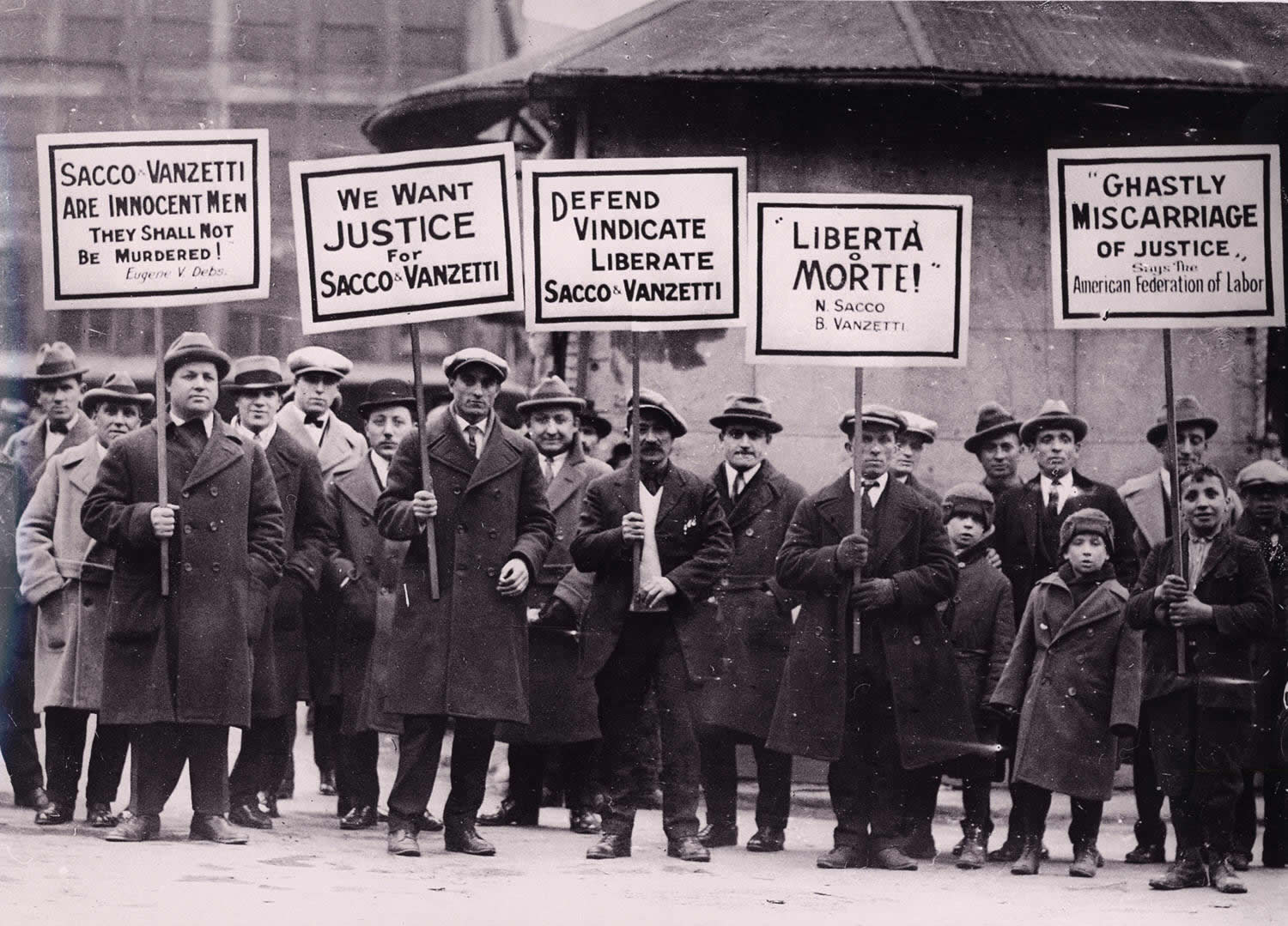Sacco and Vanzetti Protesters