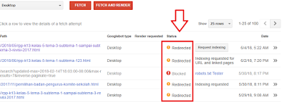 Cara Mengatasi Redirected Ketika Fetch As Google