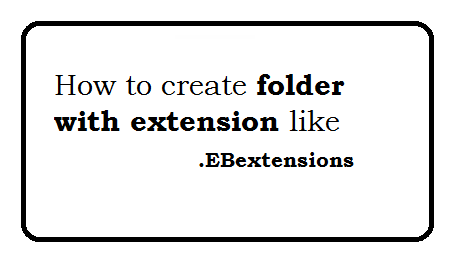 How to create folder with extension like .EBextensions