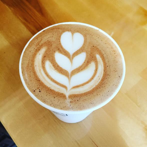 Coffee love: cafe mocha at local coffee shop Hansa Coffee Roasters.