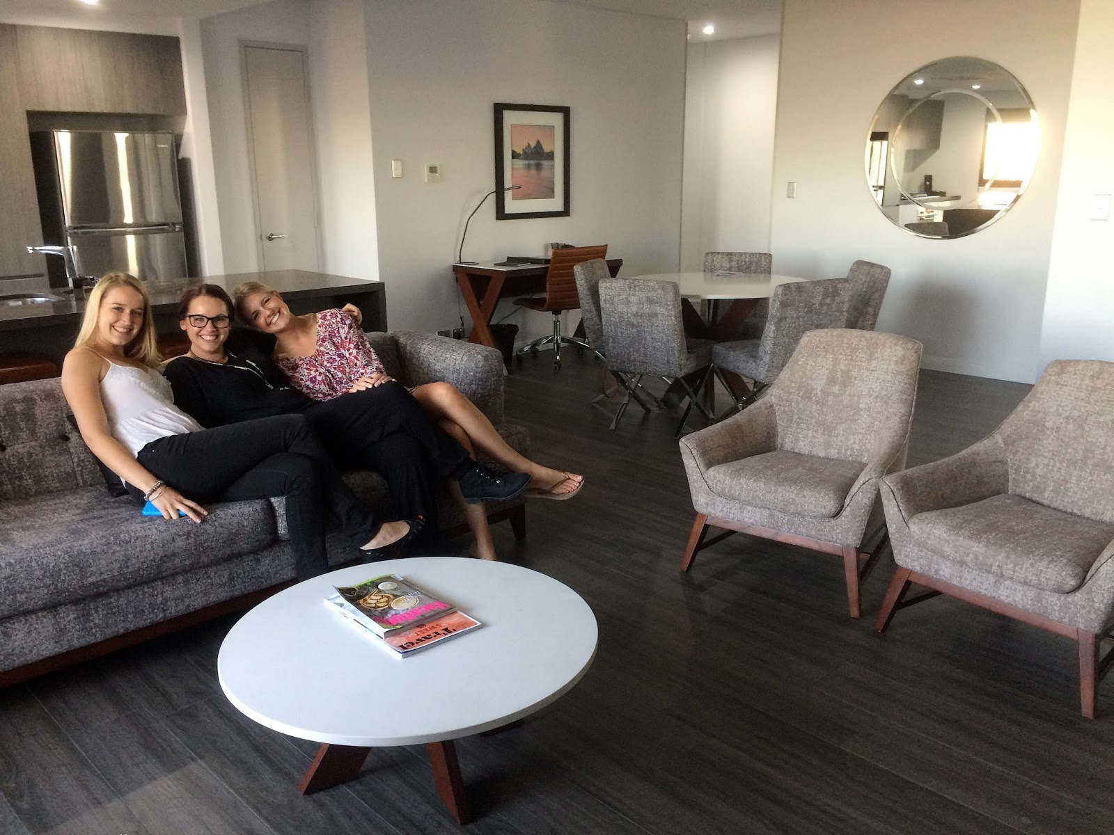 Meriton Church Street Parramatta Girls on lounge