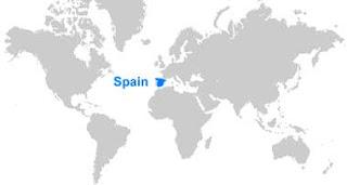 Gambar Peta letak Spanyol