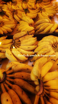 Receita de sorvete de banana caseiro