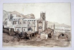 Dibujo del 'Monasterio de Santa María la Real de Nájera' - Valentín Carderera