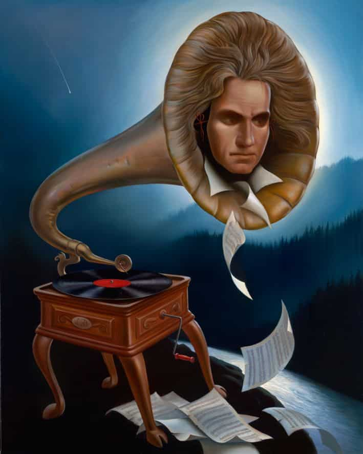 Espírito de Beethoven - Vladimir Kush