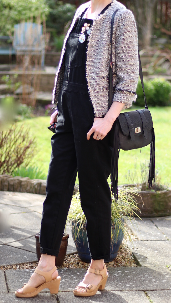 Fake Fabulous | Wearing dungarees, with tweed, over 40.