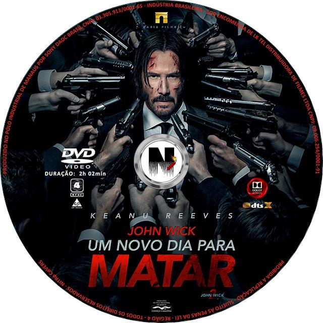 Label DVD John Wick Um Novo Dia Para Matar