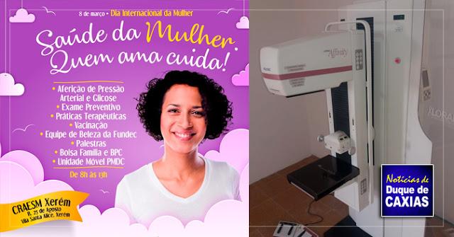 Duque de Caxias promove ação de saúde no dia da Mulher