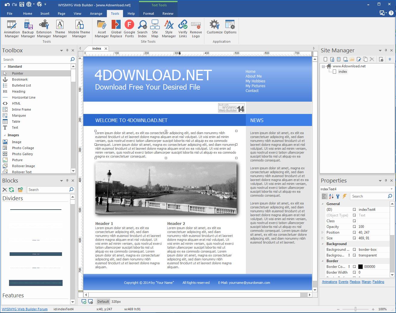 WYSIWYG Web Builder v14.3 Full version