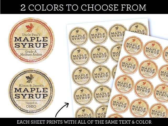 Custom Vintage Seal Maple Syrup Labels