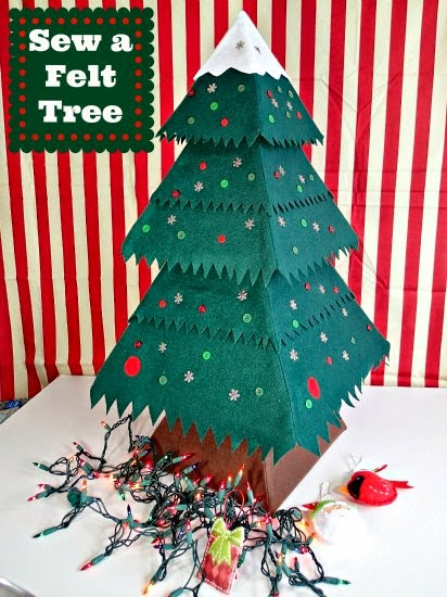 Deby At So Sew Easy Is Doing A Fantastic Felt Ornament Series In July Check Out Her Adorable Felt Christmas Tree