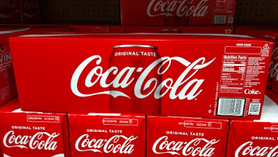 Coca-Cola 12-Pack with Nutrition Label
