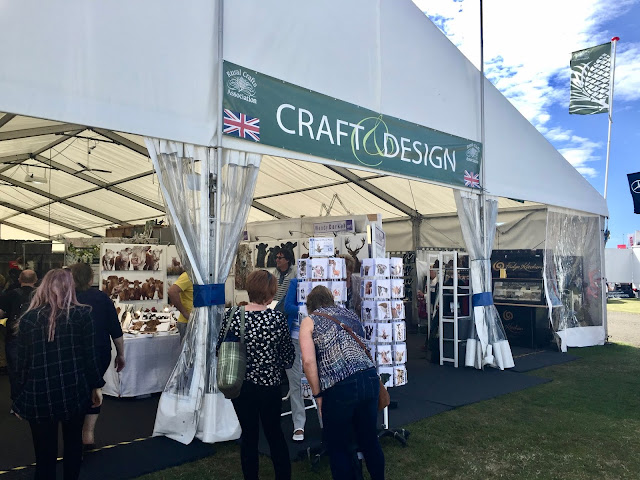 Craft tents at the Royal Highland Show, Edinburgh, Scotland