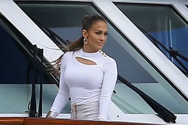 Jennifer Lopez on the set of We Are One