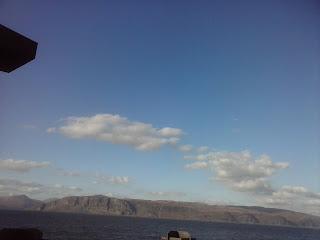 výhľad na ostrov Mull z lode