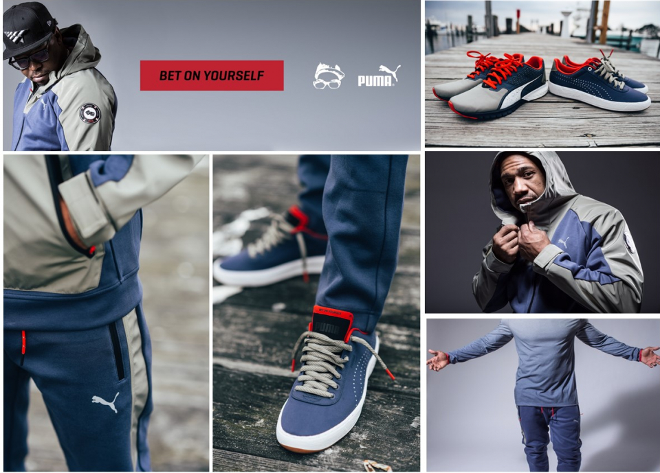 """9aab06eb5543e The Roc is definitely in the building as PUMA and Emory Jones have joined  forces for the new """"Bet On Yourself"""" Collection. Highlighting the Roc Nation  ..."""