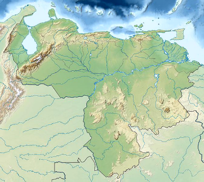 A Map Of Venezuela