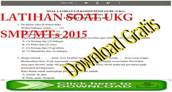 Latihan Soal-soal UKG SMP/MTs
