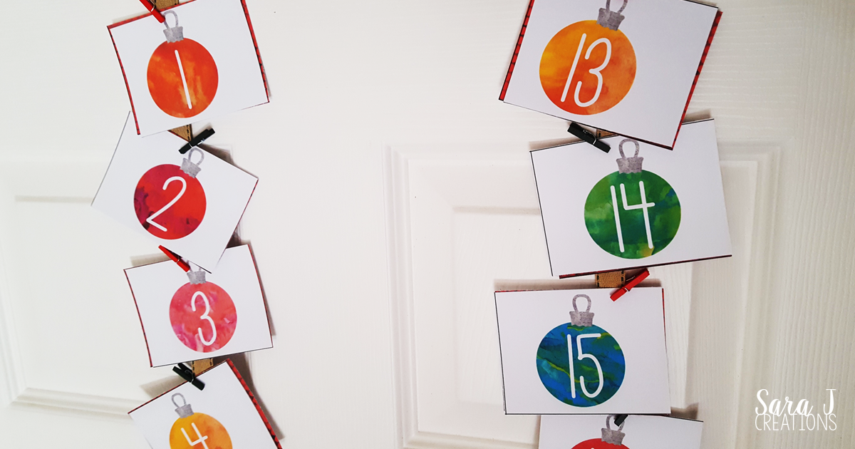 Free DIY printable Advent Calendar for counting down to Christmas as a family