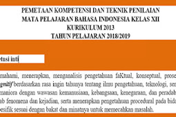 Pemetaan KD Bahasa Indonesia Kelas 12 KK13 Revisi 2018 Terbaru