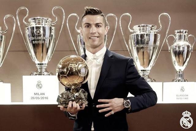 Cristiano Ronaldo é o vencedor da Bola de Ouro 2016