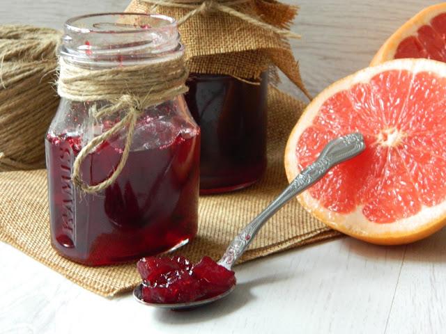 Dulceata de sfecla coapta cu grapefruit