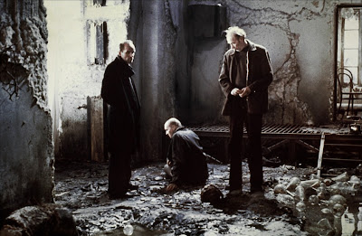 The Writer, The Professor and The Stalker, dejected in The Zone, Stalker (1979), Directed by Andrei Tarkovsky