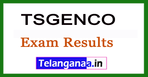 TSGENCO 2018Civil Exam Results With Ranks