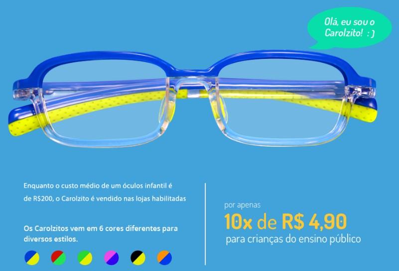 641a7a5925ab7 Óculos para alunos de escolas públicas com baixo custo nas Óticas ...