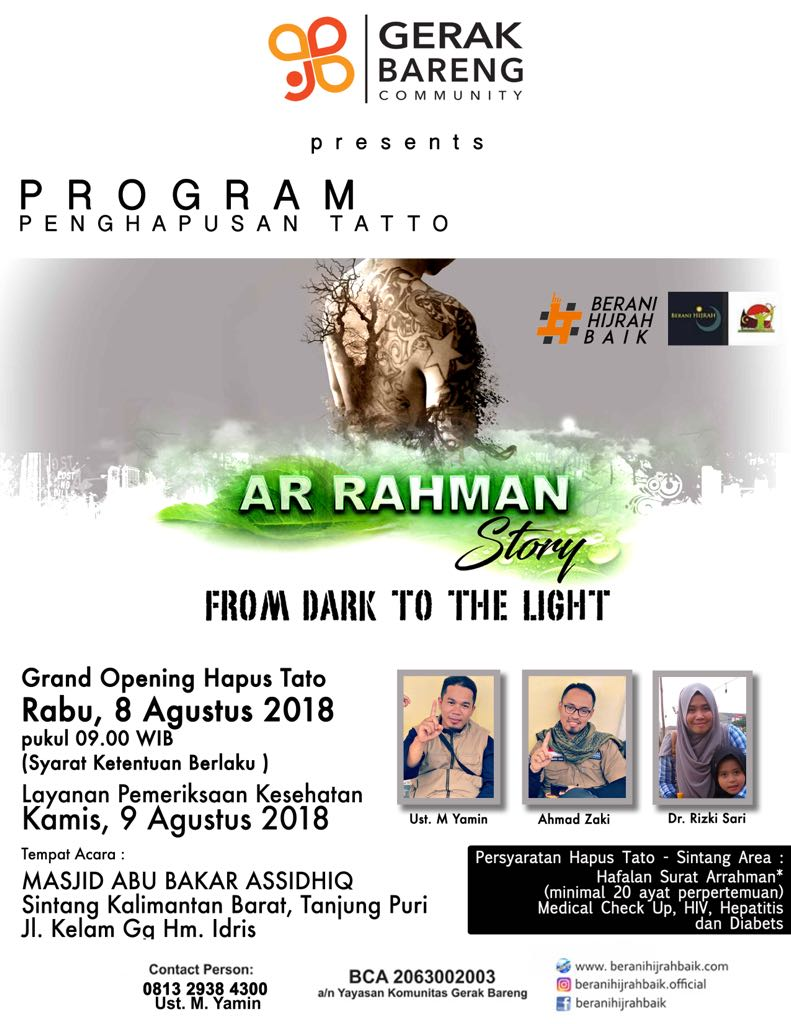 "Program Hapus Tatto ""Kalimantan Barat"""