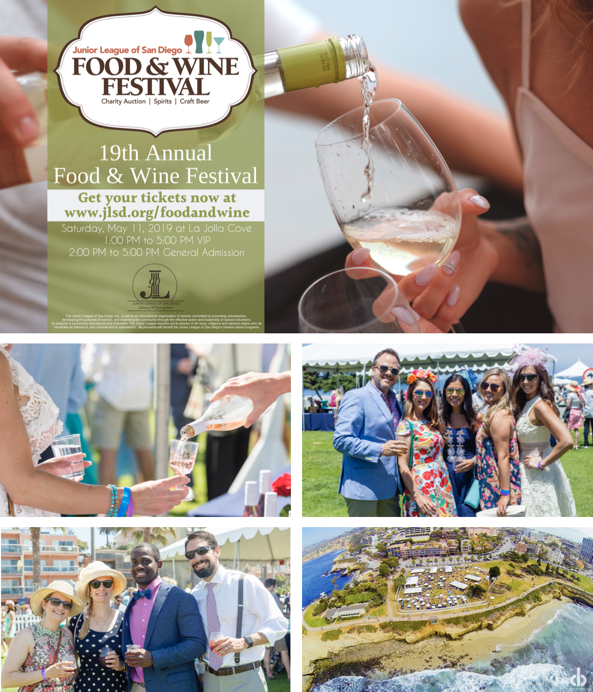 Promo code SDVILLE saves $5 per ticket to the Junior League of San Diego Food & Wine Festival!