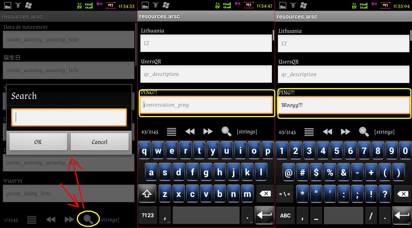 Cara Merubah Tulisan PING Dengan Tulisan Lain Pada BBM Android