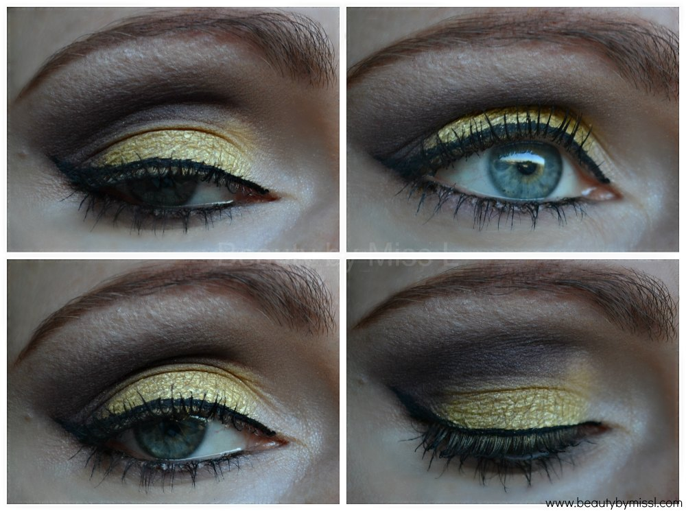 Yellow & brown smoky eye