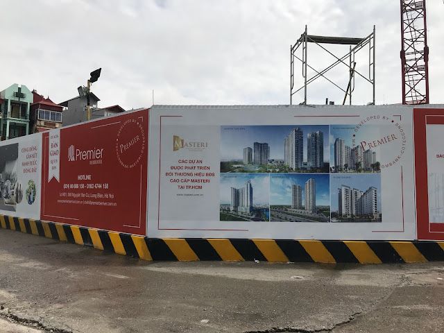 Công trường dự án Premier Berriver Long Biên
