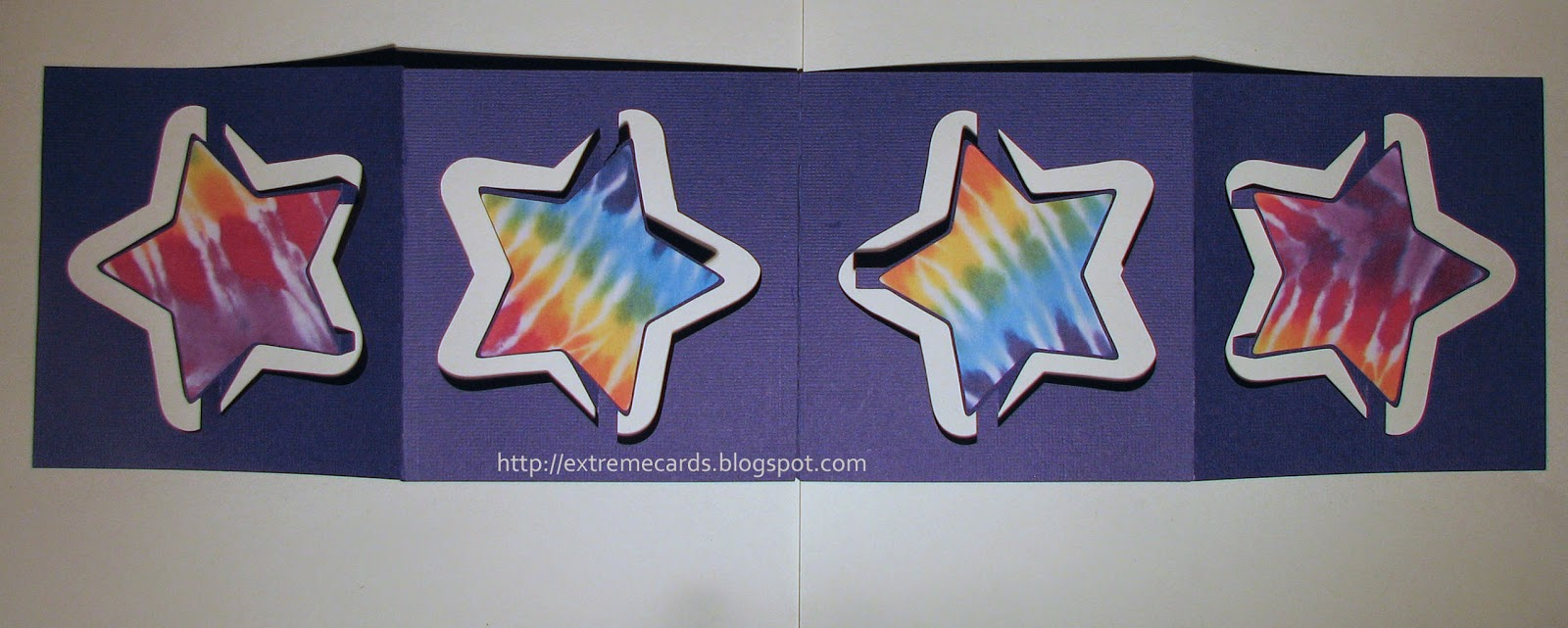 3d pop up card star flip accordion