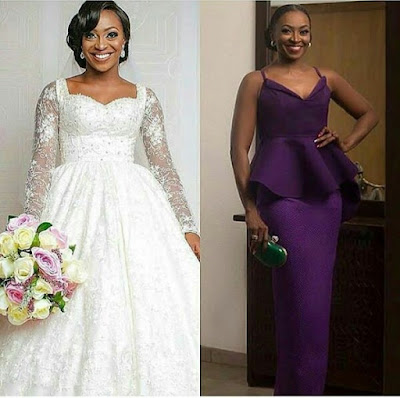 Nigerian bride and actress Kate Henshaw look so alike that they be could mistaken for one another